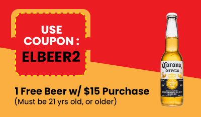 1 Free Beer w/ $15 Purchase